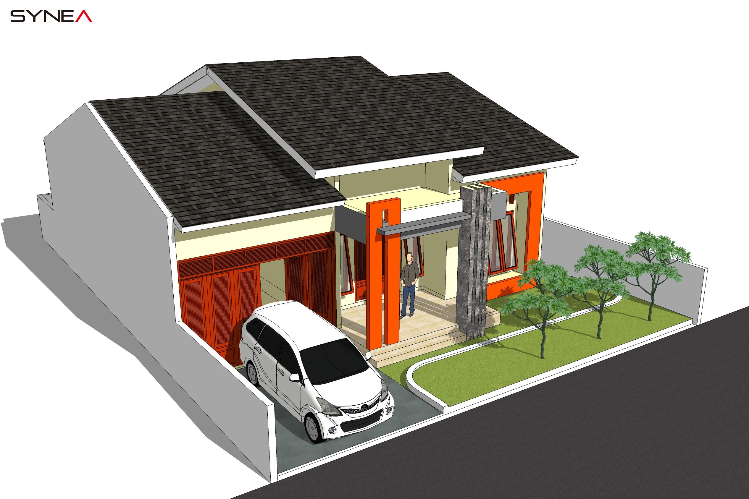 Desain Rumah Tinggal Konsep Modern Minimalis 1 Lantai 3 ...